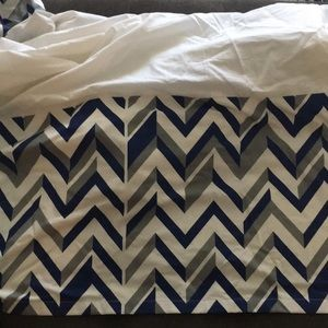 Other - LAND OF NOD chevron crib skirt